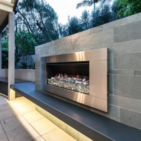 external gas fireplace outdoor lights