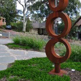 sculpture corten groundcover